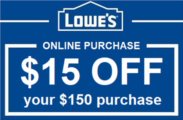 $15 Off $150 Lowes Online Coupon