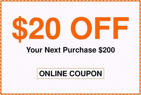 $20 Off Home Depot Coupon